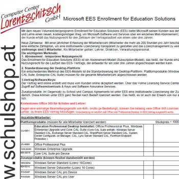 Microsoft EES (Enrollment for Education Solutions) Preisliste