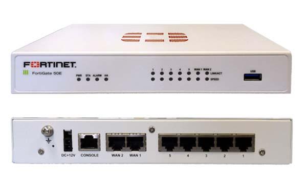 FortiGate-Firewall 50E, Full Bundle 8x5